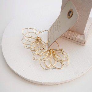 Anthropologie Floral Pop-Up Earrings